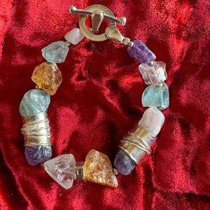Semi Precious Stone & Sterling Silpada Bracelet